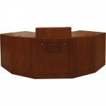 MDPA-106 Custom Angled Prairie Style Desk in Harvest Cherry - Front View