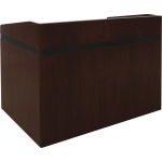 MDRS-50 Radius Style Shallow Reveal Desk in Classic Mahogany - Front View