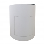 MELC-32 Ellipse Style Lectern in Frosty White Laminate - Front View