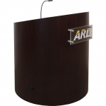 MELC-38 Ellipse Style Lectern in Classic Walnut - Front Angled View