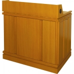 MLC-40 Column Style Lectern in Rift Red Oak - Front View