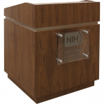 MLCD-34 Classic Deep Reveal Style Lectern in Honey Walnut - Front View