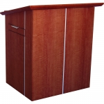 MLCS-35 Classic Style Lectern in Figured Anigre - Front View