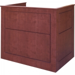 MLFP-48 Flat Panel Style Lectern in Harvest Cherry - Front View