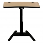 MLI-36 Industrial Style Lectern in Natural Maple - Back View Raised Position