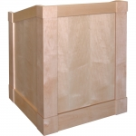 MLM-33 Mission Style Lectern in Natural Maple - Front View