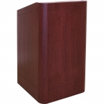 MLR-25 Radius Style Lectern in Light Red Walnut - Front View
