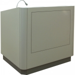 MLR-45 Radius Style Lectern in Folkstone Laminate - Front View
