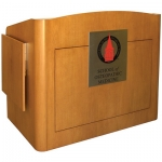 MLR-55 Radius Style Lectern in Custom Maple - Front View