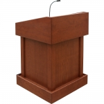 MLT-32 Traditional Style Lectern in Harvest Cherry - Front View
