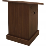 MLT-34 Traditional Style Lectern in Honey Walnut - Front View