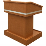MLT-35 Traditional Style Lectern in Figured Anigre Laminate - Front View