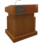MLT-40 Traditional Style Lectern in Honey Cherry - Front View Raised Position