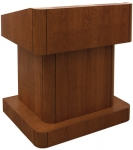 MLTR-38 Traditional Radius Style Lectern in Brown Cherry - Front View