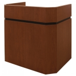 MLWD-43 Wedge Deep Reveal Style Lectern in Harvest Cherry - Front View