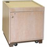 MRCS-28P Prairie Style Rack Cabinet in Custom Rift White Oak - Front View