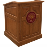 MRP-33 Raised Panel Style Lectern in Brown Cherry