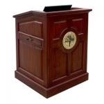 MRP-33 Raised Panel Style Lectern in Light Red Mahogany - Front View