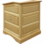 MRP-33 Raised Panel Style Lectern in Natural Maple - Front View