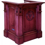 MRP-40 Raised Panel Style Lectern in Custom Cherry - Front View