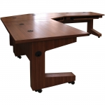 MST 30x48 Mobile Side Table in Custom Quartered Walnut - Side View