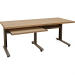 MTC 30x70 Mobile Training and Sectional Table in Natural Maple - Front View