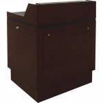 MWSCS-37 Classic Style Shallow Reveal Workstation in Classic Cherry - Front View Raised Position