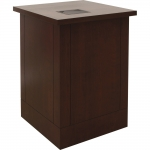 MWSP-25 Prairie Style Workstation in Classic Cherry - Front View