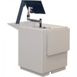 MWSR-25 Radius Style Workstation in Chalk White Laminate - Front View