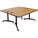 NML 30x60 Nesting Table with Folding Top in Natural Recon Laminate