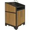 ARCO™-2525L Style Lectern with AL-KR14 Interior Configuration in Slate Gray and Nevamar Mazagran Laminate - Back View