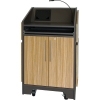 ARCO™-2525L Style Lectern with AL-KR14 Interior Configuration in Slate Gray and Nevamar Mazagran Laminate - Head On View