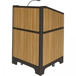 ARCO™-2525L Style Lectern with AL-KR14 Interior Configuration in Slate Gray and Nevamar Mazagran Laminate - Front View