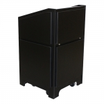 ARCO™-2525M in Black Melamine Body and Black Melamine Architectural Panels - Front View