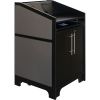 ARCO™-2525M Style Lectern in Slate Grey Melamine - Presenter Side View
