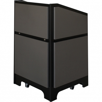 ARCO™-2525M Style Lectern in Slate Grey Melamine - Audience View