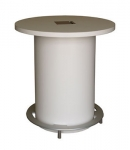 CTC-30 Collaboration Workstation in White Laminate - Front View