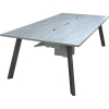 CTR 48x96MODi™ Style Rectangular Video Conference Table with Aluminum Powder Coat Legs in Wilsonart Frosty White and Pionite Crackle Crunch Laminate - Top View
