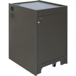 ELCO™-16RU Mobile Rack Cabinet in Slate Grey Melamine - Front View