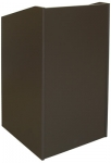 ELCO™-25 Quick Ship Lectern in Slate Grey Melamine - Front View
