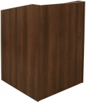 ELCO™-32 System Lectern in Walnut Melamine - Front View