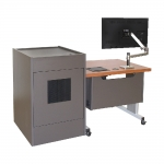 ELCO™-35RL Height Adjust Desk with ELCO™-16RU - Front View