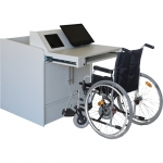 ELCO™-ADA36 Quick Ship Lectern in White Melamine - with Wheelchair