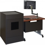ELCO™-DUO 61RL Height Adjust Desk with ELCO™-16RU - Front View