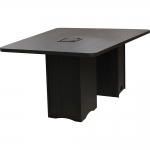 ELCO™-MCVST 48x60 V-Shaped Collaboration Table in Asian Night Melamine Base and Laminate Top