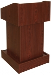 ELCO™-T25 Traditional Style System Lectern in Mahogany Melamine - Front View