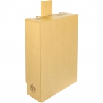 ELCO™-VC-4RU Wall Mount Rack Cabinet in Maple Melamine - Front View