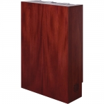 WVC-25 Video Conference Wall Cabinet in Light Red Mahogany Wood Veneer - Front View