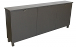 FIT™-76M Low Profile Credenza in Slate Grey Laminate - Front View