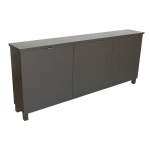 FIT™-76M Low Profile Credenza in Slate Grey Melamine - Front View